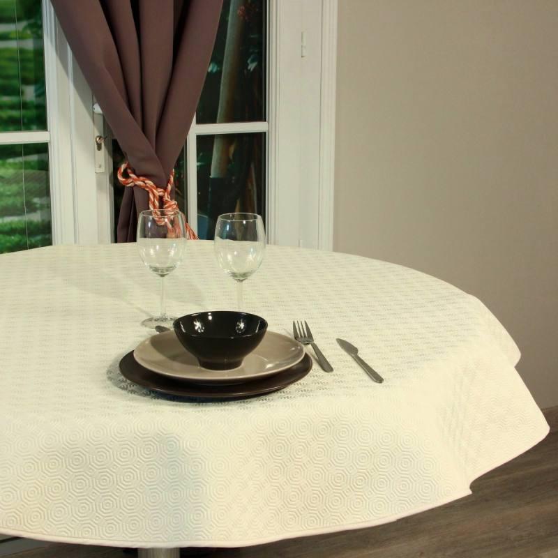 Protge-table type bulgomme uni blanc au mtre pas cher