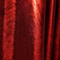 Lycra métallisé rouge