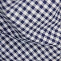 Coton vichy bleu marine 5 mm