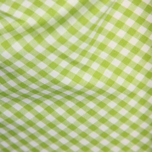 Coton vichy vert citron 5 mm