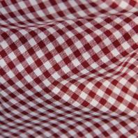 Coton vichy bordeaux 5 mm