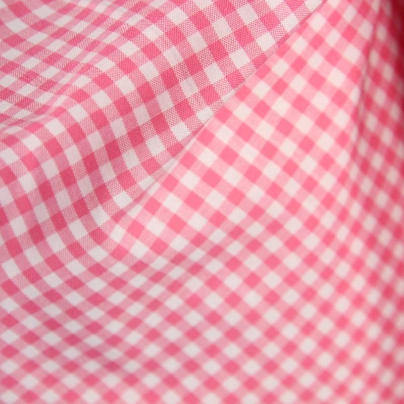 Tissus coton vichy rose 5 mm tissus au m tre tissu coton for Tissu impermeable exterieur pas cher