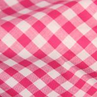 Coton vichy fushia 10 mm