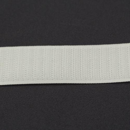 Rouleau 25m Auto-agrippant à coudre crochet 30 mm blanc