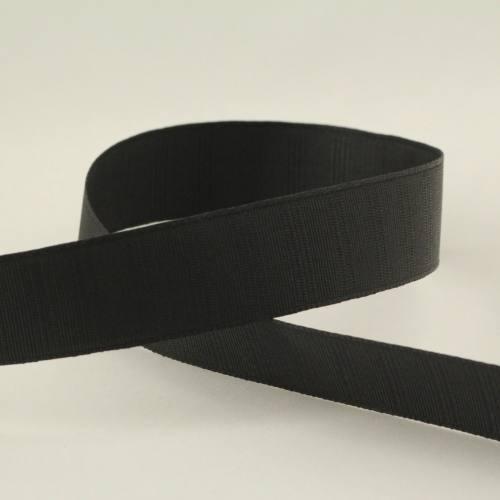 Ruban gros grain noir - 25mm