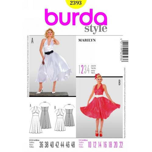 Patron Burda N°2393 Carnaval : Marilyn Taille : 36-48