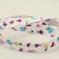 Biais replié enfant 25 mm - animaux violet
