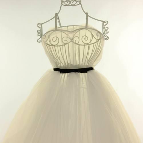 Tulle ivoire pour robe de mariée grande largeur