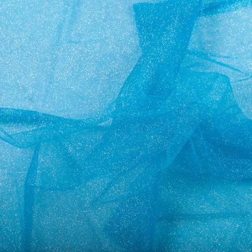 Tulle turquoise paillettes 270cm