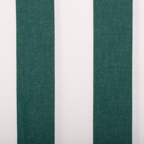 Toile extérieure Téflon grande largeur rayé blanc et vert