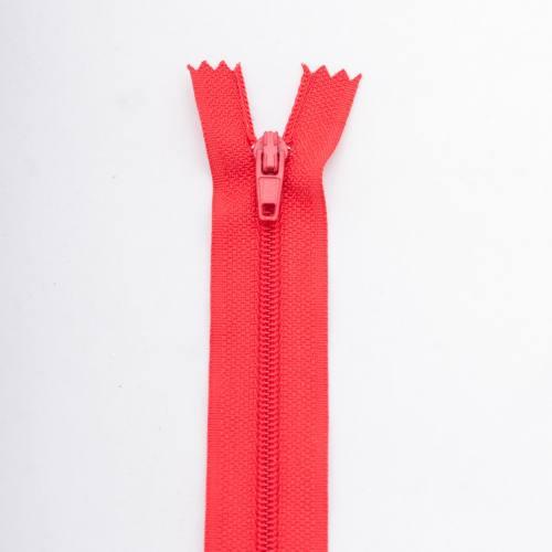 Fermeture 12 cm polyester non séparable rouge col 113
