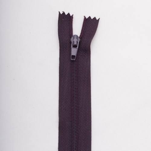 Fermeture 45 cm polyester non séparable violet col 181