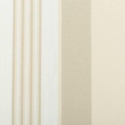 Toile extérieure Téflon grande largeur rayé beige et kaki