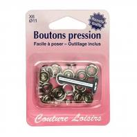 Kit de base boutons pression avec fermeture invisible - blanc x6