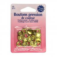 Recharge boutons pression couleur or X6