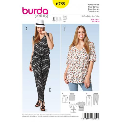 Patron N°6789 Burda style : Coordonnes et tunique Taille : 42.54