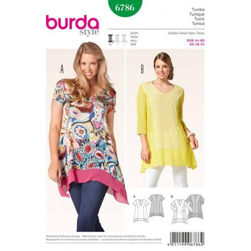 Patron N°6786 Burda Style : Tunique Taille : 44-60