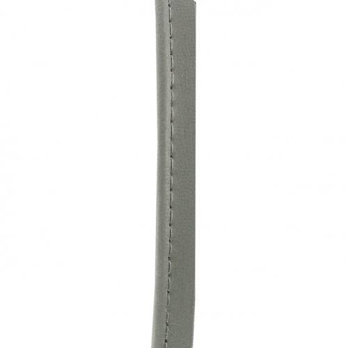 Passepoil simili cuir 10 mm gris