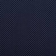 Coton bleu marine à petit pois 1mm