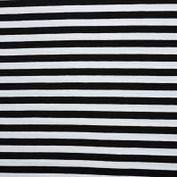 Jersey rayé noir et blanc