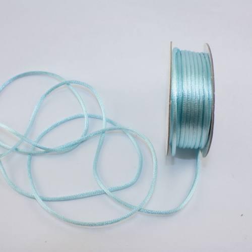 Cordelette en bobine aqua 2 mm