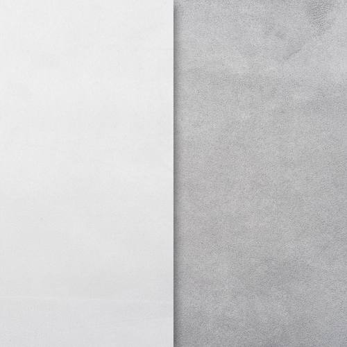 Suédine alaska réversible blanc/gris perle