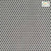 Coton blanc petit motif asanoha noir