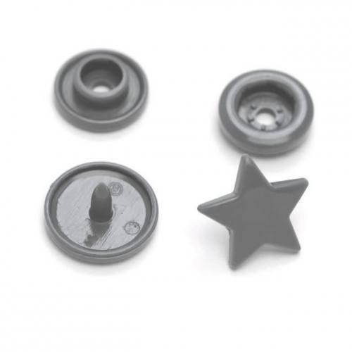 Boite de boutons-pression étoile en résine Color snaps fuchsia