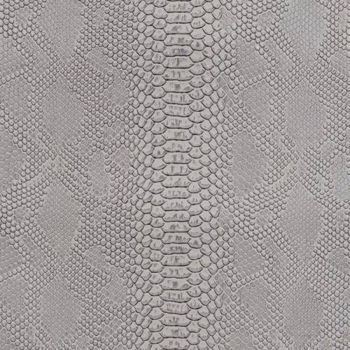 Simili cuir Dragon blanc argenté