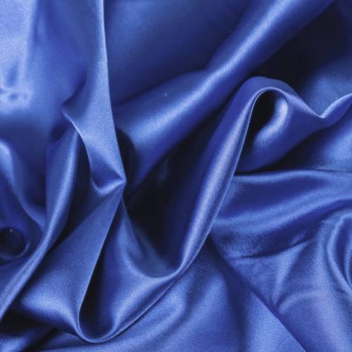 Satin uni bleu roi 110cm