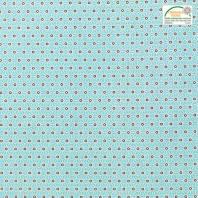 Coton bleu turquoise petit motif asanoha