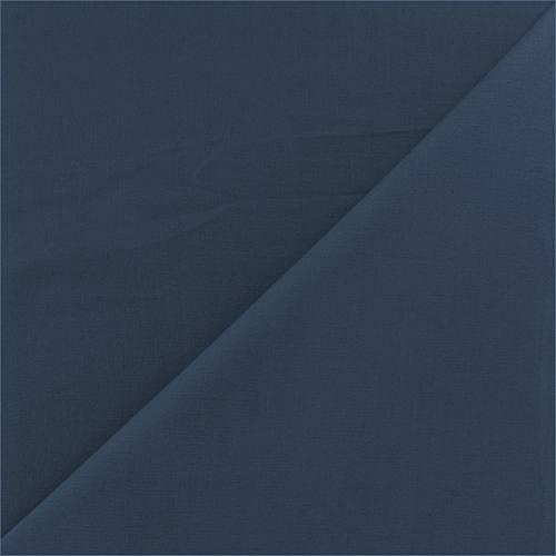 Coton percale bleu jean grande largeur