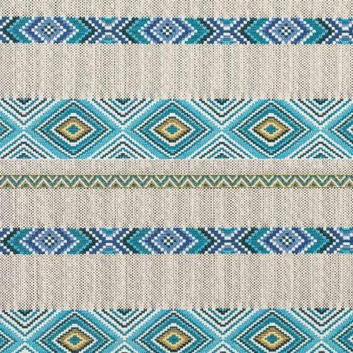 Jacquard aztèque bleu