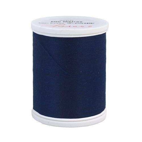 Fil à coudre polyester bleu marine 2270