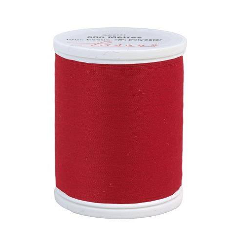 Fil à coudre polyester rouge 2508