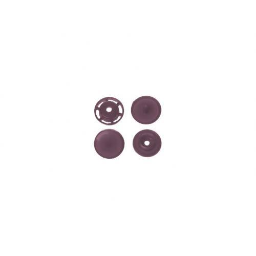 Boite de boutons-pression ronds en résine Color snaps marron