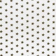 Coton imprimé blanc étoiles kaki