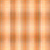 Coton vichy orange 3 mm