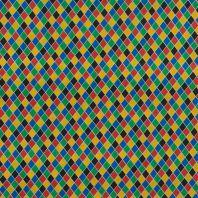 Tissu polyester arlequin