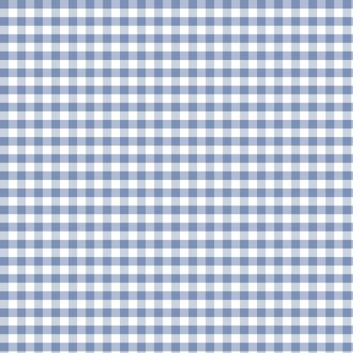 Coton vichy bleu serenity 5 mm