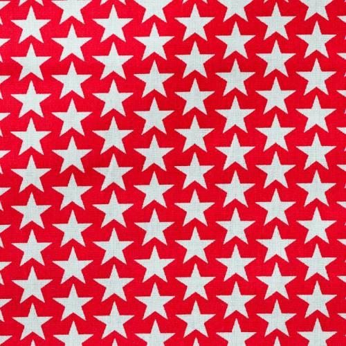Coton étoiles monroe rouge