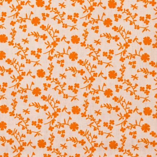 Coton fleurs margneg orange