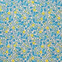 Coton fleurs sarina bleu