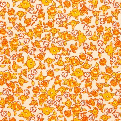 Coton fleurs sarina orange