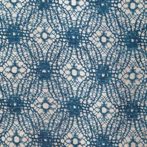 Jacquard motifs abstraits velours bleu