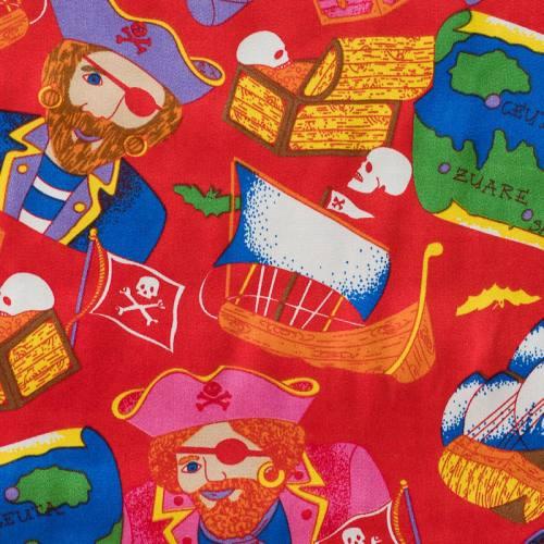 Satin rouge pirates