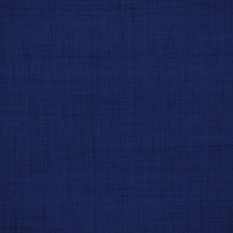 coton aspect lin bleu roi pas cher tissus price. Black Bedroom Furniture Sets. Home Design Ideas