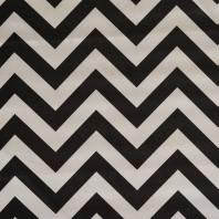 Satin zig zag blanc et noir