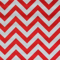 Satin zig zag blanc et rouge