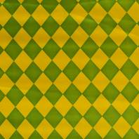 Satin arlequin vert et jaune